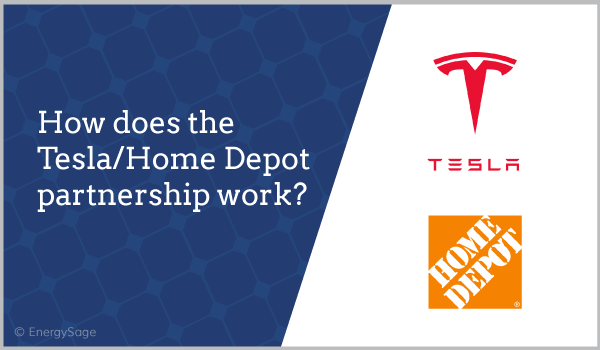 Tesla Home Depot partnership solar 2018