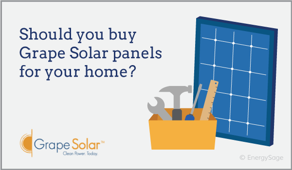 grape solar panels