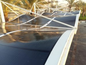miasole flex solar panels on a curved roof