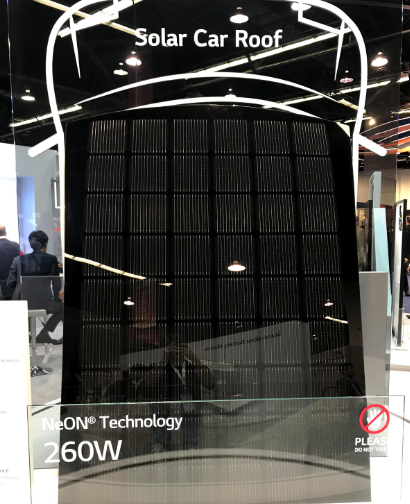 lg solar car roof