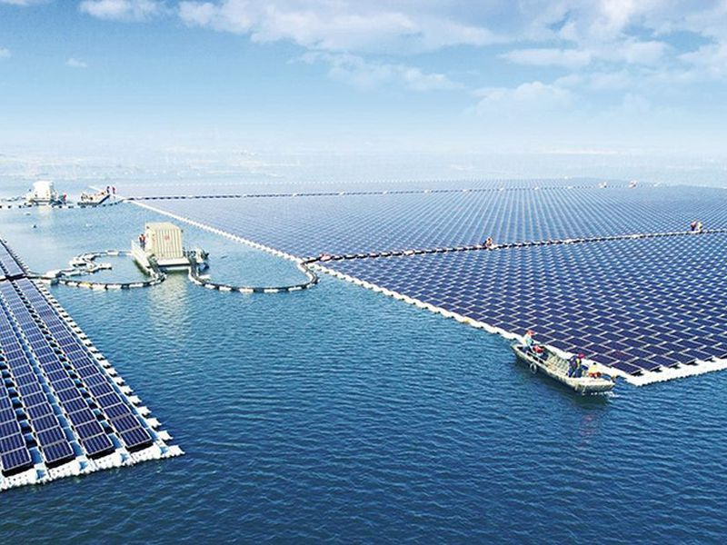 largest floating solar array