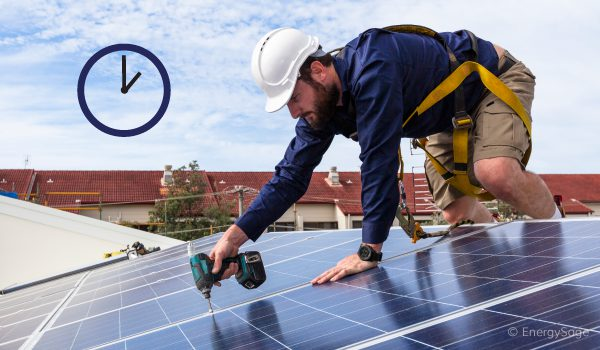 how long it takes to install solar panels