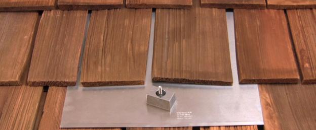 wood roof solar panels