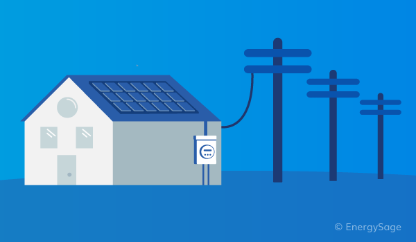 house with electric meter