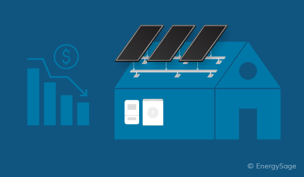 cost of solar equipment declining over time