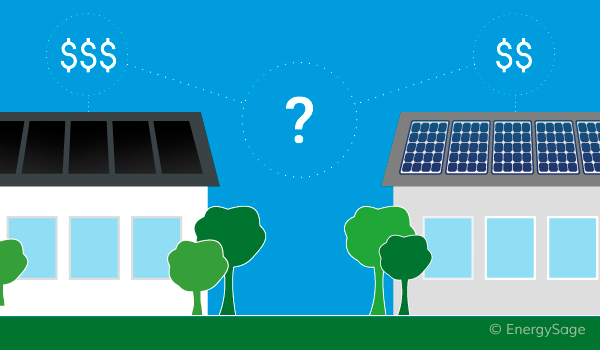 comparing the price of solar panel systems