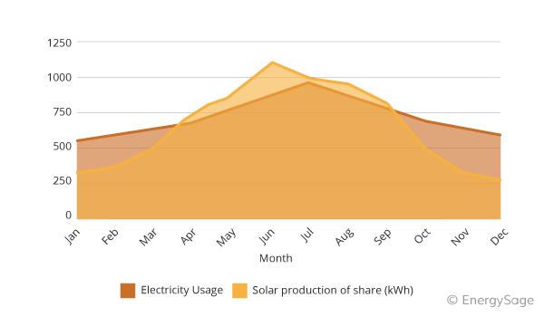 community solar production graph